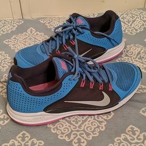 Nike Zoom ZM Elite 6 Blue Pink Gray Size 11